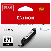 1 x Genuine Canon CLI-671BK Black Ink Cartridge