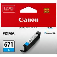 1 x Genuine Canon CLI-671C Cyan Ink Cartridge