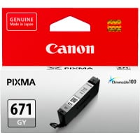 1 x Genuine Canon CLI-671GY Grey Ink Cartridge