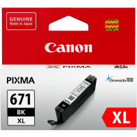 1 x Genuine Canon CLI-671XLBK Black Ink Cartridge High Yield