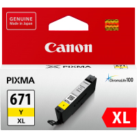 1 x Genuine Canon CLI-671XLY Yellow Ink Cartridge High Yield