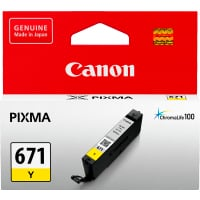 1 x Genuine Canon CLI-671Y Yellow Ink Cartridge