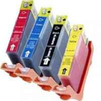 4 Pack Compatible Canon CLI-8 Ink Cartridge Set (1PBK,1C,1M,1Y)