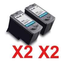 4 Pack Compatible Canon PG-40 CL-41 Ink Cartridge Set (2BK,2C)