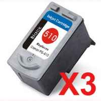 3 x Compatible Canon PG-510 Black Ink Cartridge