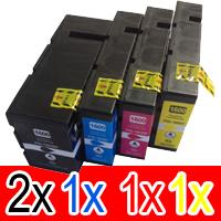 5 Pack Compatible Canon PGI-1600XL PGI1600XL Ink Cartridge High Yield Set (2BK,1C,1M,1Y)