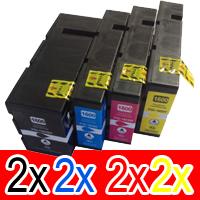 8 Pack Compatible Canon PGI-1600XL PGI1600XL Ink Cartridge High Yield Set (2BK,2C,2M,2Y)