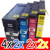 10 Pack Compatible Canon PGI-2600XL PGI2600XL Ink Cartridge High Yield Set (4BK,2C,2M,2Y)