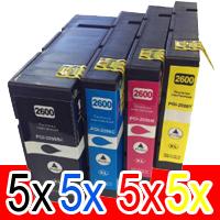 20 Pack Compatible Canon PGI-2600XL PGI2600XL Ink Cartridge High Yield Set (5BK,5C,5M,5Y)
