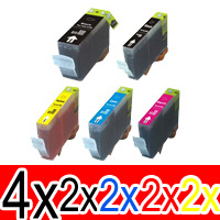 12 Pack Compatible Canon PGI-525 CLI-526 Ink Cartridge Set (4BK,2PBK,2C,2M,2Y)