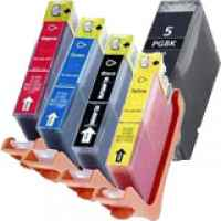 5 Pack Compatible Canon PGI-5 CLI-8 Ink Cartridge Set (1BK,1PBK,1C,1M,1Y)
