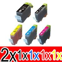 6 Pack Compatible Canon PGI-650XL CLI-651XL Ink Cartridge Set (2BK,1PBK,1C,1M,1Y)