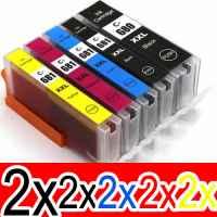 10 Pack Compatible Canon PGI-680XXL CLI-681XXL Ink Cartridge Extra High Yield Set (2BK,2PBK,2C,2M,2Y)