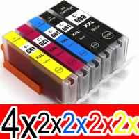 12 Pack Compatible Canon PGI-680XXL CLI-681XXL Ink Cartridge Extra High Yield Set (4BK,2PBK,2C,2M,2Y)