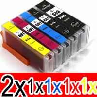 6 Pack Compatible Canon PGI-680XXL CLI-681XXL Ink Cartridge Extra High Yield Set (2BK,1PBK,1C,1M,1Y)