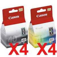 8 Pack Genuine Canon PG-40 CL-41 Ink Cartridge Set (4BK,4C)