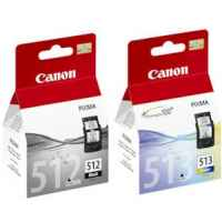 2 Pack Genuine Canon PG-512 CL-513 Ink Cartridge Set High Yield