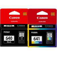 2 Pack Genuine Canon PG-640 CL-641 Ink Cartridge Set Standard Yield