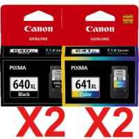 4 Pack Genuine Canon PG-640XL CL-641XL Ink Cartridge Set High Yield (2BK,2C)