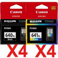 8 Pack Genuine Canon PG-640XL CL-641XL Ink Cartridge Set High Yield (4BK,4C)