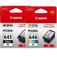 2 Pack Genuine Canon PG-645XL CL-646XL Ink Cartridge Set High Yield (1BK,1C)