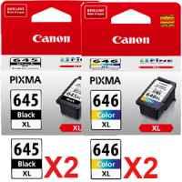 4 Pack Genuine Canon PG-645XL CL-646XL Ink Cartridge Set High Yield (2BK,2C)