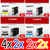 10 Pack Genuine Canon PGI-1600XL PGI-1600XL Ink Cartridge Set High Yield (4BK,2C,2M,2Y)