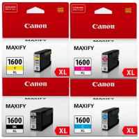4 Pack Genuine Canon PGI-1600XL PGI-1600XL Ink Cartridge Set High Yield (1BK,1C,1M,1Y)