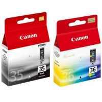 2 Pack Genuine Canon PGI-35BK CLI-36C Ink Cartridge Set