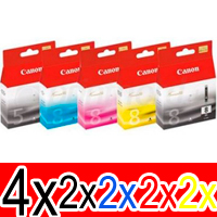12 Pack Genuine Canon PGI-5 CLI-8 Ink Cartridge Set (4BK,2PBK,2C,2M,2Y)