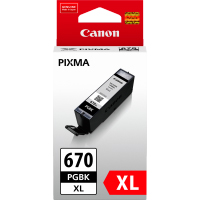 1 x Genuine Canon PGI-670XLBK Black Ink Cartridge High Yield