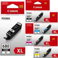 5 Pack Genuine Canon PGI-680XL CLI-681XL Ink Cartridge Set High Yield (1BK,1PBK,1C,1M,1Y)