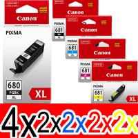 12 Pack Genuine Canon PGI-680XL CLI-681XL Ink Cartridge Set High Yield (4BK,2PBK,2C,2M,2Y)