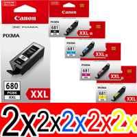 10 Pack Genuine Canon PGI-680XXL CLI-681XXL Ink Cartridge Set Extra High Yield (2BK,2PBK,2C,2M,2Y)