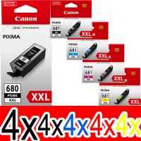 20 Pack Genuine Canon PGI-680XXL CLI-681XXL Ink Cartridge Set Extra High Yield (4BK,4PBK,4C,4M,4Y)