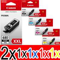 6 Pack Genuine Canon PGI-680XXL CLI-681XXL Ink Cartridge Set Extra High Yield (2BK,1PBK,1C,1M,1Y)