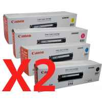 2 Lots of 4 Pack Genuine Canon CART-316 Toner Cartridge Set