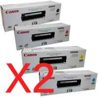 2 Lots of 4 Pack Genuine Canon CART-318 Toner Cartridge Set