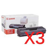 3 x Genuine Canon EP-22 Toner Cartridge