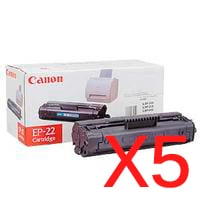 5 x Genuine Canon EP-22 Toner Cartridge