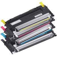 4 Pack Compatible Dell 1230c 1235cn Toner Cartridge Set
