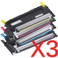 3 Lots of 4 Pack Compatible Dell 1230c 1235cn Toner Cartridge Set