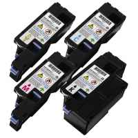 4 Pack Compatible Dell 1250c 1350cnw 1355cn C1760nw C1765nf C1765nfw Toner Cartridge Set