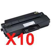 10 x Compatible Dell B1260dn B1265dnf Toner Cartridge