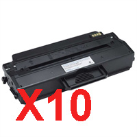 10 x Compatible Dell B1260dn B1265dnf Toner Cartridge