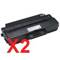 2 x Compatible Dell B1260dn B1265dnf Toner Cartridge