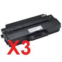 3 x Compatible Dell B1260dn B1265dnf Toner Cartridge
