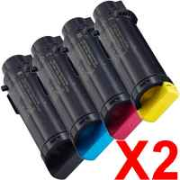 2 Lots of 4 Pack Compatible Dell H625 H825 S2825 Toner Cartridge Set
