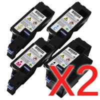 2 Lots of 4 Pack Compatible Dell E525 E525w Toner Cartridge Set