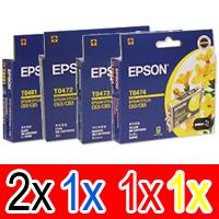 5 Pack Genuine Epson T0461 T0472 T0473 T0474 Ink Cartridge Set (2BK,1C,1M,1Y)